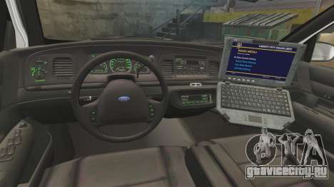 Ford Crown Victoria 1999 Florida Highway Patrol для GTA 4 вид сзади