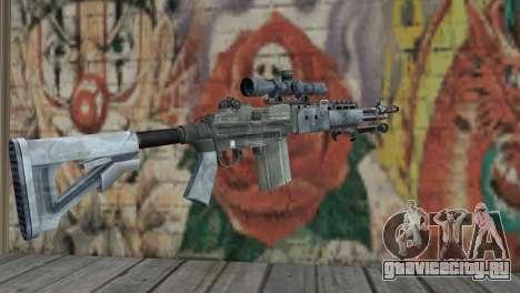 M14 EBR Blue Tiger для GTA San Andreas второй скриншот