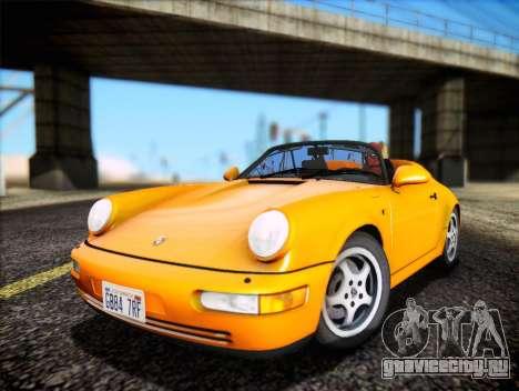 Porsche 911 Speedster Carrera 2 1992 для GTA San Andreas вид сзади