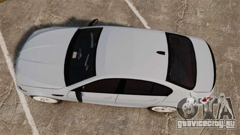 BMW M5 Unmarked Police [ELS] для GTA 4 вид справа