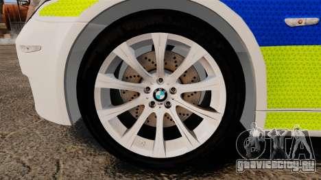 BMW M5 E60 City Of London Police [ELS] для GTA 4 вид сзади