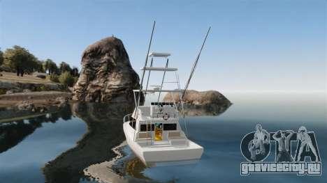 Sport fishing yacht для GTA 4 вид сзади слева
