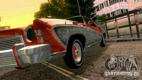 Chevy Monte Carlo Lowrider для GTA Vice City вид сверху