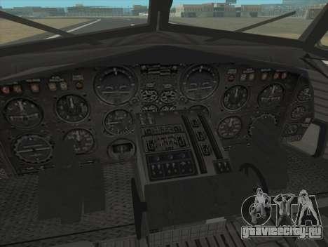 Fairchild C-123 Provider для GTA San Andreas вид сзади