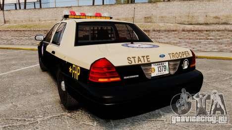 Ford Crown Victoria 1999 Florida Highway Patrol для GTA 4 вид сзади слева