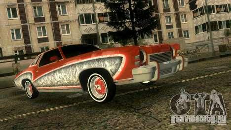 Chevy Monte Carlo Lowrider для GTA Vice City вид изнутри