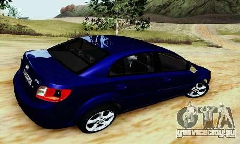 Kia Rio II 2009 для GTA San Andreas вид сзади слева