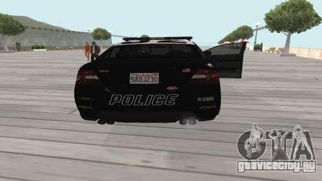 GTA V Police Cruiser для GTA San Andreas вид справа
