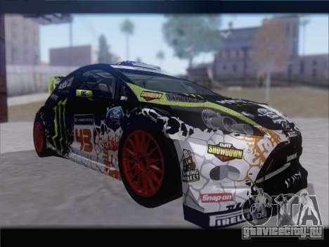 Ford Fiesta RS WRC 2013 для GTA San Andreas вид слева