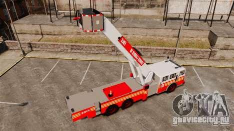 MTL Firetruck Tower Ladder [ELS-EPM] для GTA 4 вид сзади