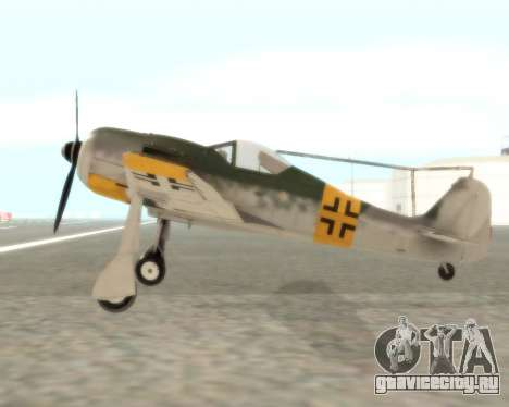 Focke-Wulf FW-190 F-8 для GTA San Andreas вид слева
