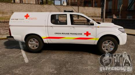 Toyota Hilux French Red Cross [ELS] для GTA 4 вид слева