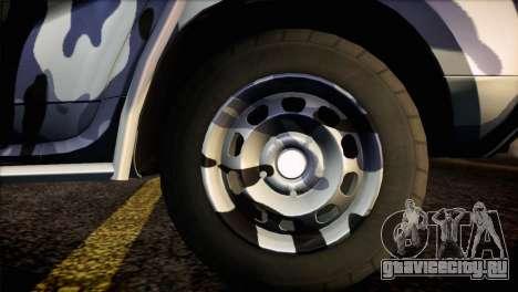 Dacia Duster Army Skin 3 для GTA San Andreas вид сзади слева