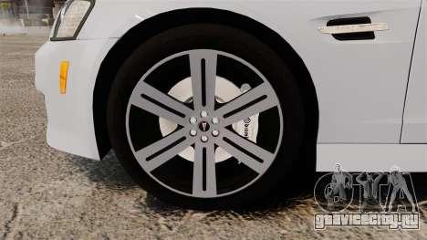Pontiac G8 Sport Truck 2010 для GTA 4 вид сзади