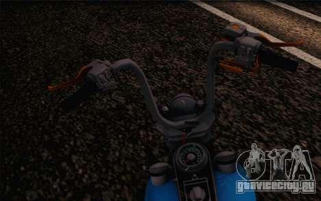 Harley-Davidson Knucklehead для GTA San Andreas вид справа