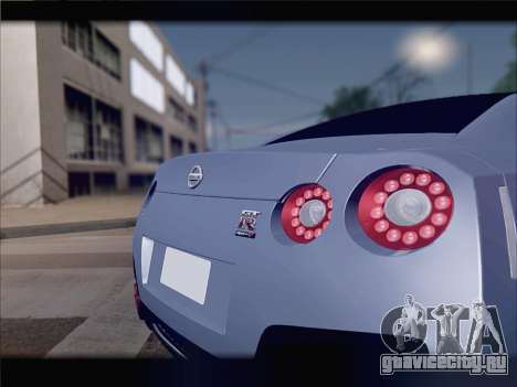 Nissan GT-R Spec V Stance для GTA San Andreas вид сбоку