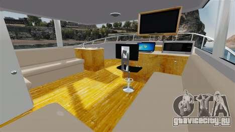 Sport fishing yacht для GTA 4 вид сзади