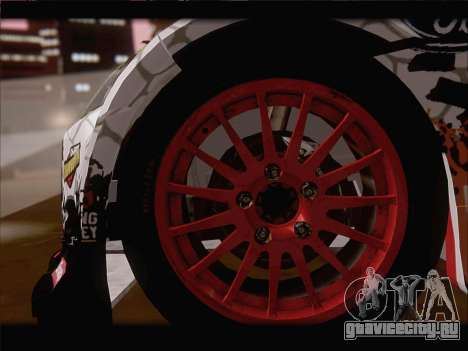Ford Fiesta RS WRC 2013 для GTA San Andreas вид сверху