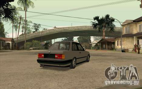 BMW E30 Stance для GTA San Andreas вид сзади слева