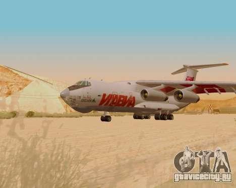Ил-76ТД ИлАвиа для GTA San Andreas вид сзади слева