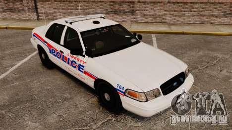 Ford Crown Victoria 2008 LCPD Patrol [ELS] для GTA 4 вид сзади