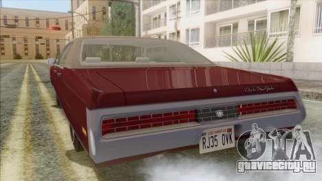 Chrysler New Yorker 4 Door Hardtop 1971 для GTA San Andreas вид слева