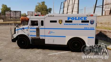 Enforcer LCPD [ELS] для GTA 4 вид слева