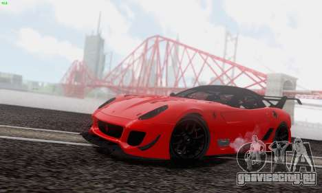 Ferrari 599XX Evolution для GTA San Andreas вид сбоку
