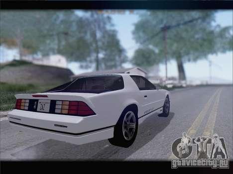 Chevrolet Camaro IROC-Z 1990 для GTA San Andreas