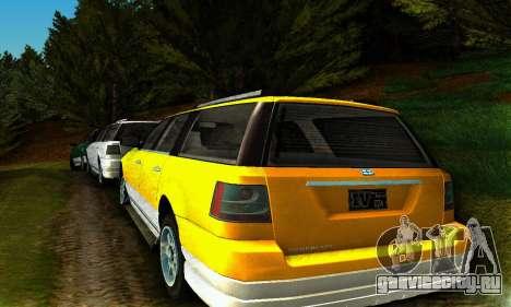 Landstalker GTA IV для GTA San Andreas вид сзади слева