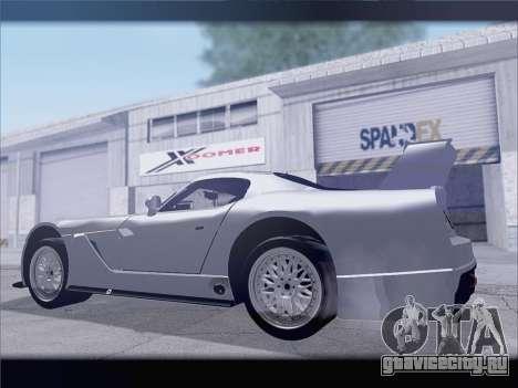 Dodge Viper Competition Coupe для GTA San Andreas вид сзади