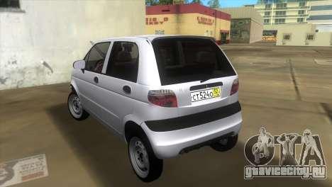 Daewoo Matiz для GTA Vice City вид сзади слева