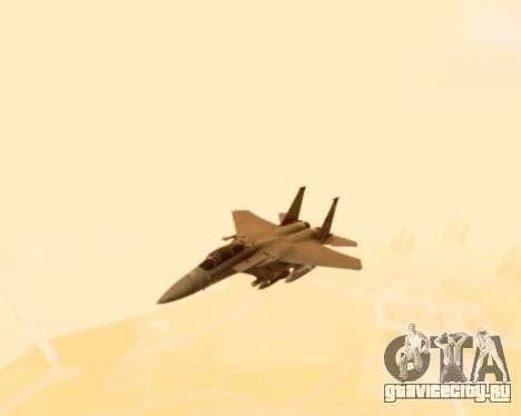 F-15E Strike Eagle для GTA San Andreas вид изнутри