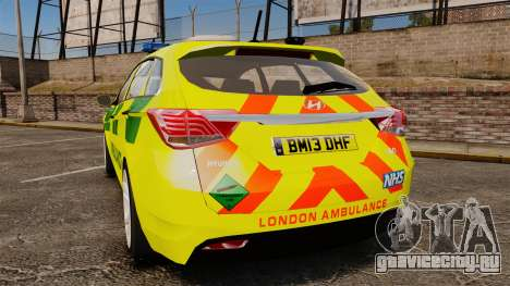Hyundai i40 Tourer [ELS] London Ambulance для GTA 4 вид сзади слева