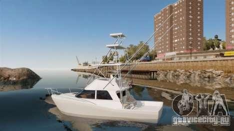 Sport fishing yacht для GTA 4 вид слева
