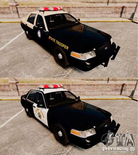 Ford Crown Victoria 1999 Florida Highway Patrol для GTA 4 вид изнутри