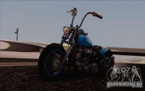 Harley-Davidson Knucklehead для GTA San Andreas вид сзади