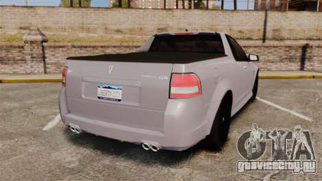 Pontiac G8 Sport Truck 2010 для GTA 4 вид сзади слева