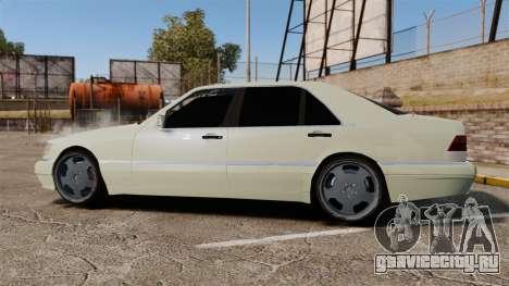 Mercedes-Benz S600 (W140) 1998 для GTA 4 вид слева