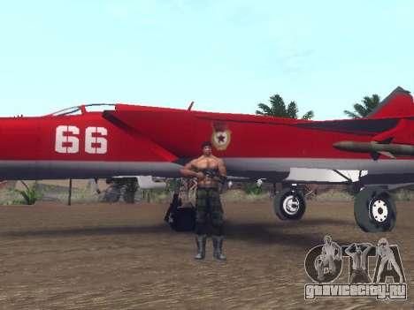 МиГ 25 для GTA San Andreas вид изнутри