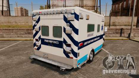 Ford E-350 Liberty Ambulance [ELS] для GTA 4 вид сзади слева