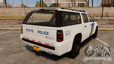 GTA V Declasse Police Ranger LCPD [ELS] для GTA 4 вид сзади слева