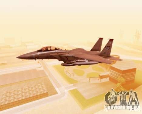 F-15E Strike Eagle для GTA San Andreas вид сбоку