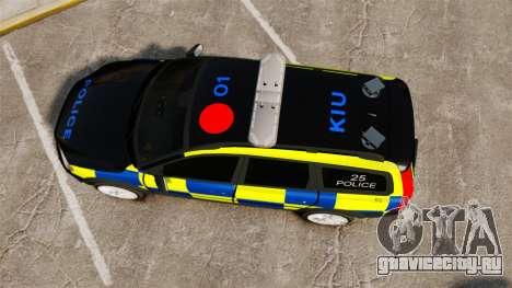 Volvo XC70 Police [ELS] для GTA 4 вид справа