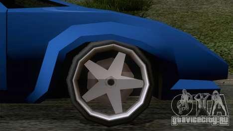 Infernus 80s для GTA San Andreas вид сзади слева