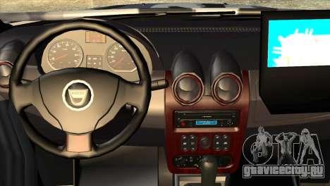 Dacia Duster Army Skin 3 для GTA San Andreas вид справа