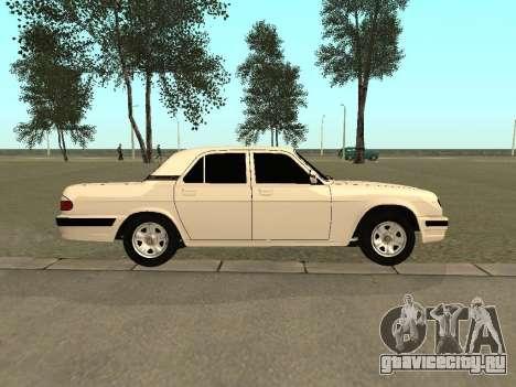 ГАЗ 31105 для GTA San Andreas вид сзади слева