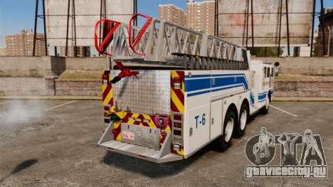MTL Firetruck MDH1000 Midmount Ladder [ELS] для GTA 4 вид сзади слева