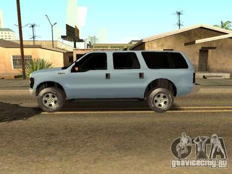 Ford Excursion для GTA San Andreas вид слева