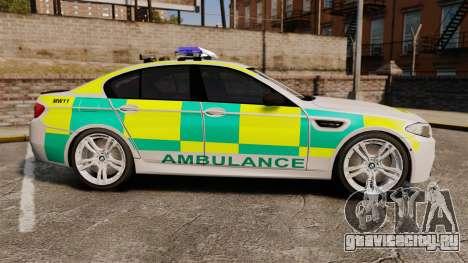 BMW M5 Ambulance [ELS] для GTA 4 вид слева